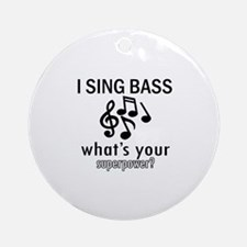 Cool Bass Designs Ornament (Round)