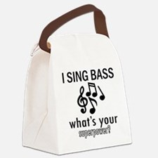 Cool Bass Designs Canvas Lunch Bag