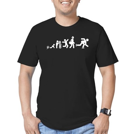 Ice Skating Men's Fitted T-Shirt (dark)