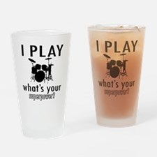 Cool Drums Designs Drinking Glass