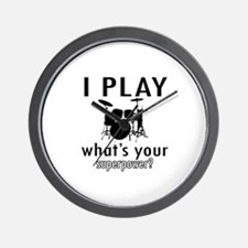 Cool Drums Designs Wall Clock