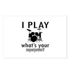 Cool Drums Designs Postcards (Package of 8)