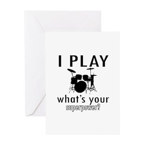 Cool Drums Designs Greeting Card