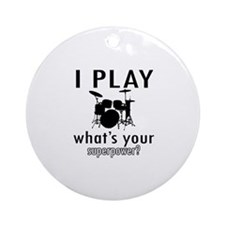 Cool Drums Designs Ornament (Round)