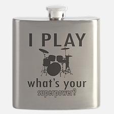 Cool Drums Designs Flask