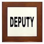Deputy Law Enforcement Framed Tile