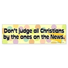 Christians in the News Bumper Bumper Sticker