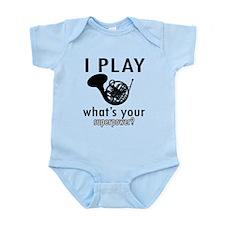 Cool French Horn Designs Infant Bodysuit
