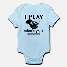 Cool French Horn Designs Infant Bodysuit
