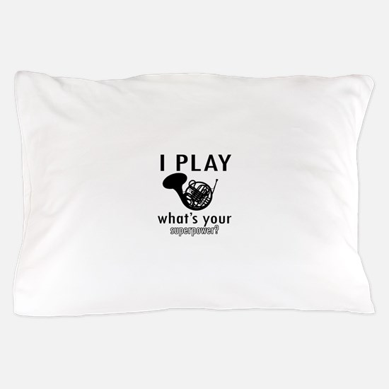 Cool French Horn Designs Pillow Case