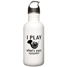 Cool French Horn Designs Water Bottle