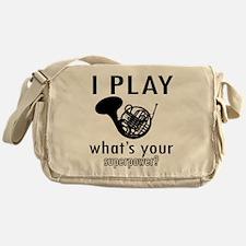 Cool French Horn Designs Messenger Bag