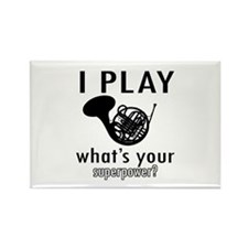 Cool French Horn Designs Rectangle Magnet