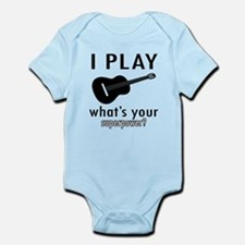 Cool Guitar Designs Onesie