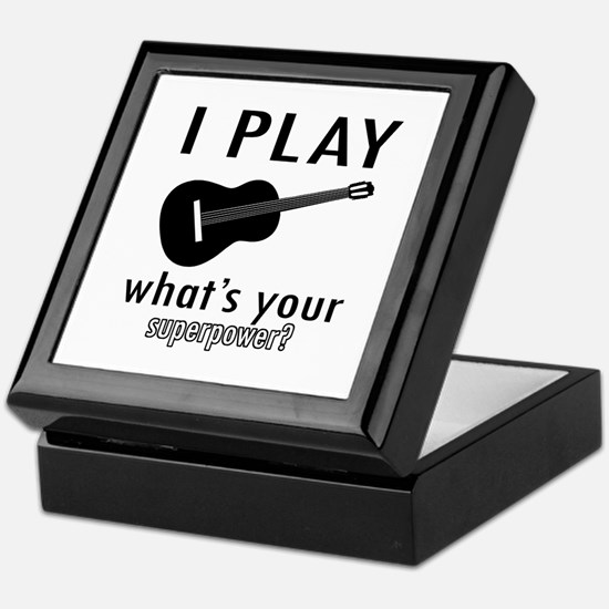 Cool Guitar Designs Keepsake Box