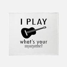 Cool Guitar Designs Throw Blanket