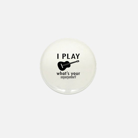 Cool Guitar Designs Mini Button