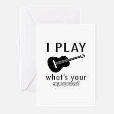 Cool Guitar Designs Greeting Cards (Pk of 10)