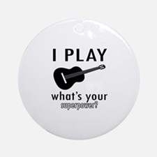 Cool Guitar Designs Ornament (Round)