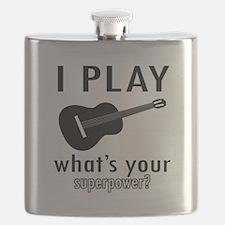 Cool Guitar Designs Flask