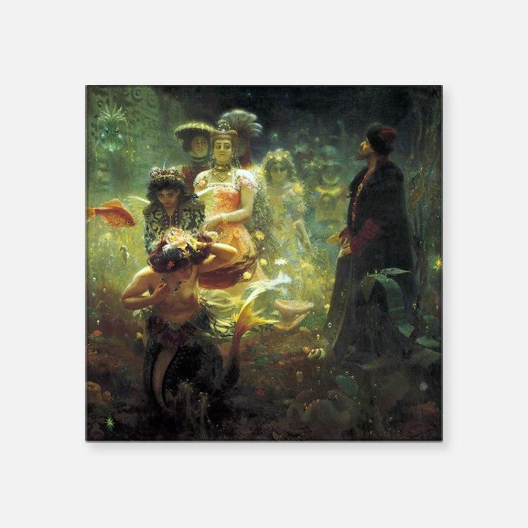 Ilya Repin Sadko Underwater Kingdom Square Sticker