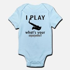 Cool Saxophone Designs Infant Bodysuit