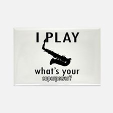 Cool Saxophone Designs Rectangle Magnet
