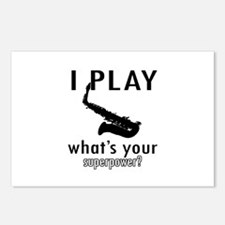 Cool Saxophone Designs Postcards (Package of 8)