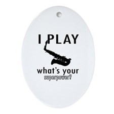 Cool Saxophone Designs Ornament (Oval)