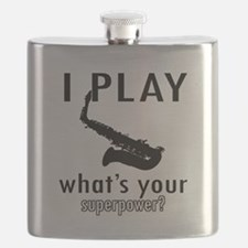 Cool Saxophone Designs Flask
