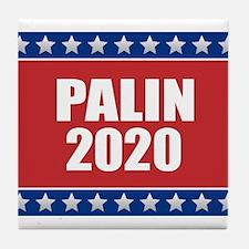 Sarah Palin 2020 Tile Coaster