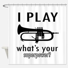 Cool Trumpet Designs Shower Curtain