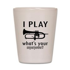 Cool Trumpet Designs Shot Glass