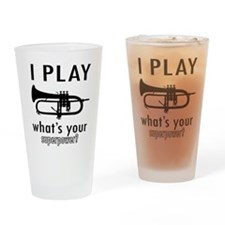 Cool Trumpet Designs Drinking Glass