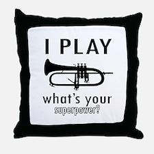 Cool Trumpet Designs Throw Pillow