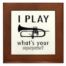Cool Trumpet Designs Framed Tile