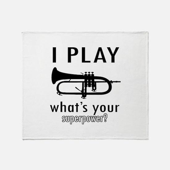 Cool Trumpet Designs Throw Blanket
