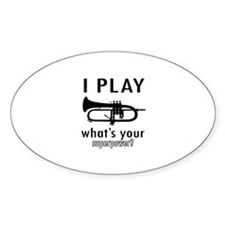 Cool Trumpet Designs Decal