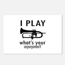 Cool Trumpet Designs Postcards (Package of 8)