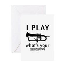 Cool Trumpet Designs Greeting Card