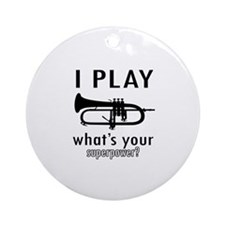 Cool Trumpet Designs Ornament (Round)
