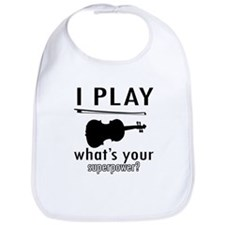 Cool Violin Designs Bib