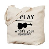 Violin Canvas Totes