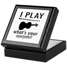 Cool Violin Designs Keepsake Box