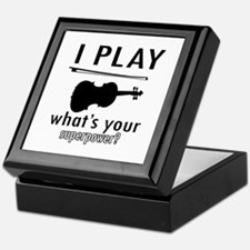 Cool Violin Designs Keepsake Box