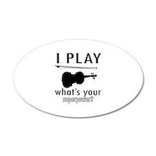 Cool Violin Designs Wall Sticker