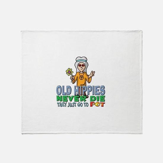 Hippies Throw Blanket