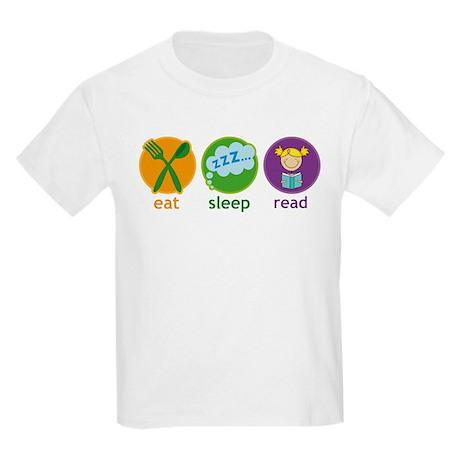 Cute Eat Sleep Read Kids Light T-Shirt