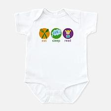 Cute Eat Sleep Read Infant Bodysuit