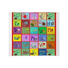 alphabet soup creations Throw Blanket